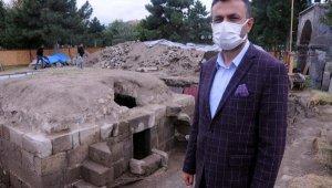 8 asırlık mezarlıkta yapılan kazı tamamlandı; eyvan tipi kümbet çıktı