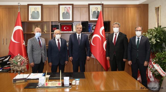 Başkanlardan MHP İl Başkanı İncetoprak'a hayırlı olsun ziyareti
